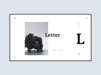 letter, part 2 typography web hero white app design ui simple clean minimal brandnew
