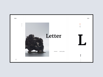 letter, part 2 typography web hero white app design ui simple clean minimal brandnew