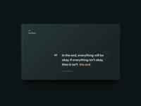 book dark theme quote dark app design ui simple clean minimal brandnew