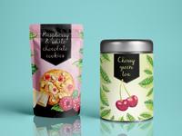 Tea and cookies packaging