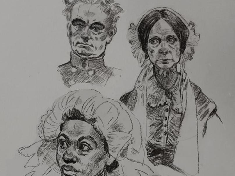 Doodles traditional art 2d portrait