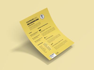 My Resume minimal design print pantone pantone2021 yellow jaune resume curriculum curriculum vitae