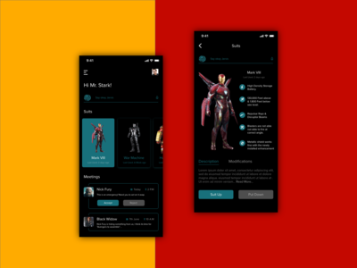 Iron Man Themed Interface