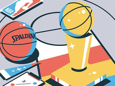 Who's your favorite? hoop geometric isometric isometric art illustration trophy ball sports basketball nba