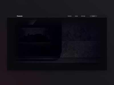 Pansonic convection oven oven panasonic interface animation motion creative promo page promo site promo homepage web design animation ux ui