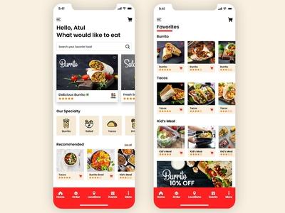 Restaurants App UI