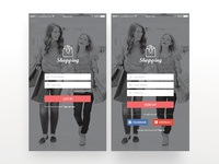 Shopping Mobile App Mockup Design - 1