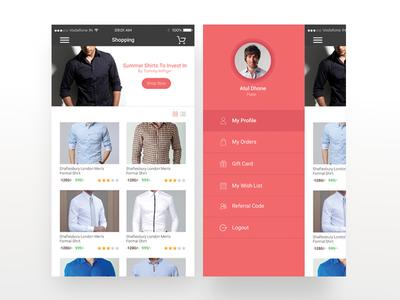 Shopping Mobile App Mockup Design - 1