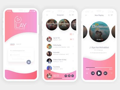 Music App Design Mockup
