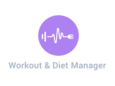 Workout and Diet Manager Logo Design workout manager diet manager creative work illustrator photoshop mobile app logo branding logo design