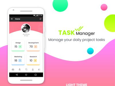 Task Manager App Design Mockup - LightTheme