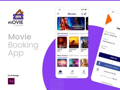 Movie Ticket Booking App UI/UX
