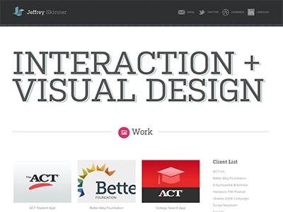 Portfolio Homepage portfolio site responsive