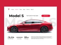 Tesla Website Redesign (Model S Page)