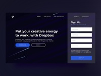 Dropbox Home Page Website Redesign