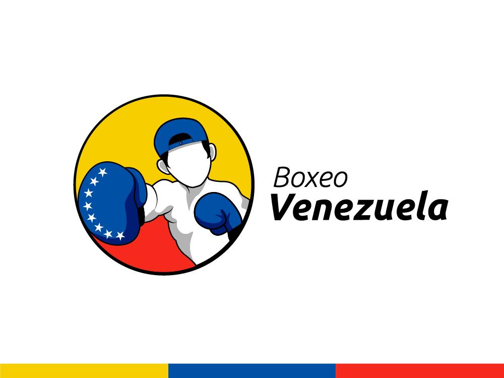 Boxeo Venezuela logo dynamic logo flag logo flag tricolor venezuela boxing sports logo logotype illustration logo design branding