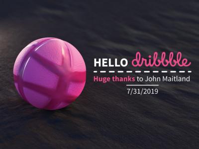 Hello Dribbble 3D - 7/31/2019