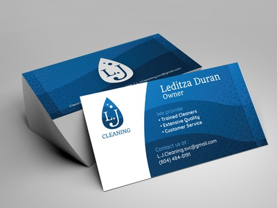 L.J cleaning - Business card - 2019