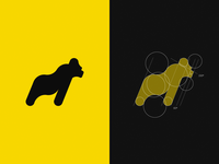 Gorilla logo - golden ratio