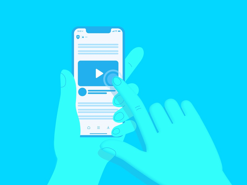 Mobile video preview illustration