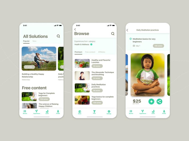 Educational platform Walden App Design Concept
