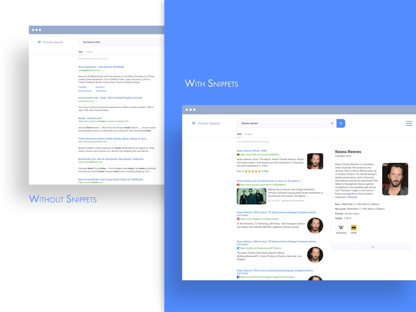 Snippets design for Private Search desktop by Tania Shevtsova on ...