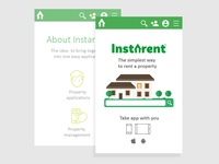 Mobile version of the website Instarent