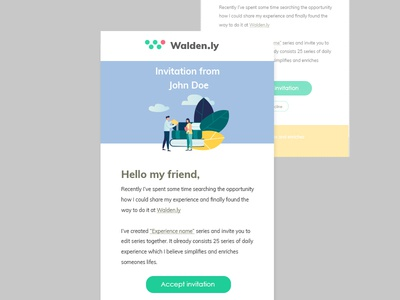E-mail invitation design from Walden website