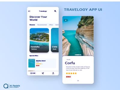 Travelogo App Ui designing