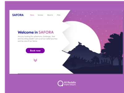 Landing page for SAFORA