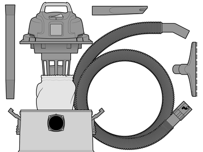 Zoom III vacuum adobe illustrator instructional illustration assembly instructions manual tech technical drawing vector graphics technical illustration