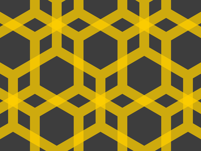 Collateral Gains honey bee pattern texture motiongraphics technical illustration vector graphics isometric
