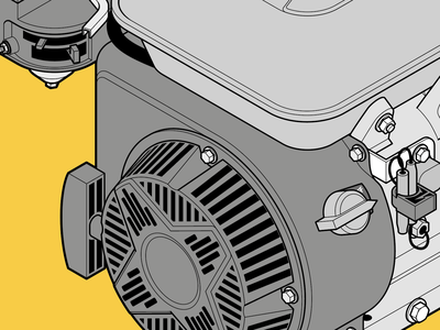 Isometric engine cogwheel instructional illustration blueprint engineer engine adobe illustrator vector graphics technical illustration technical drawing tech isometric
