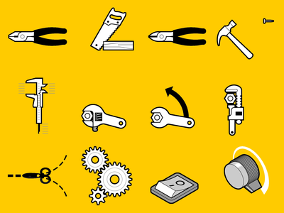 My first techy GIF set. stories instagram instructional graphics tools instructional design gif sticker technical drawing vector graphics adobe illustrator technical illustration technical motion graphics