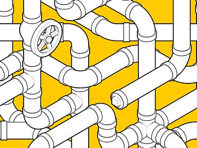 Infinite Pipe Pattern isometric design plumbing gif adobe aftereffects adobe illustrator infinite motiongraphics loop plumber pipe pattern technical graphics instructional design technical drawing vector graphics isometric graphics isometric