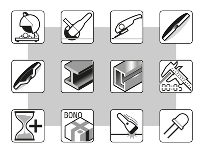 Industrial Icon Set 1 infographic design infographics instructional communication industrial industry tech vector graphics icon design icon set icons