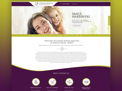 Cheam Dental Design custom theme wordpress ui design web development web design