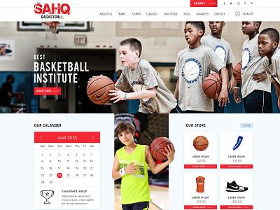 Shaq Basketball Institute wordpress web design web development custom theme