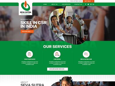 Seva Sutra Web Design ui design wordpress web development custom theme web design