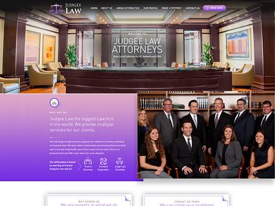 Website design for Judgee Law wordpress ui design web development web design custom theme