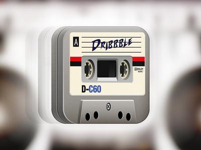 Musicassette iCon mc cassette music icon ios iphone nostalgy