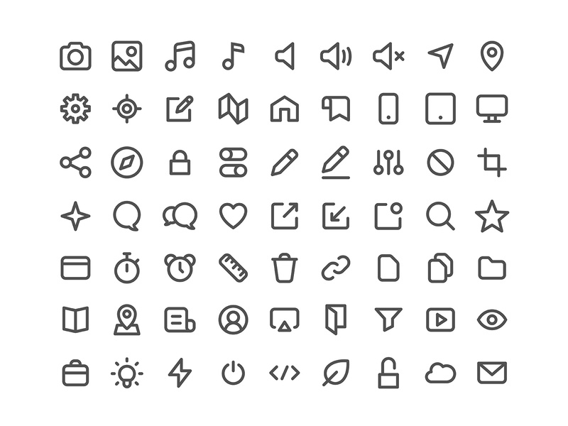 Icon Set ui app ios symbol line set office icon set icon