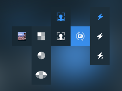 PhotoApp Icons icon photo app ios iphone blue