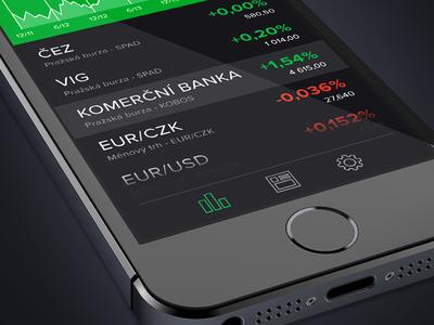 StockApp Prototype stock app ios iphone prototype