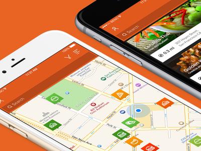 Random Food Finder App food finder app ios map list view