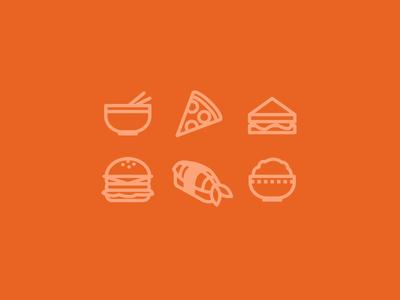 Food Icons food icons chinese sushi japanese india burger deli pizza