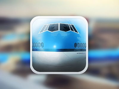 KLM B747 iPhone icon klm amsterdam boeing 747 icon iphone schiphol