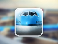 KLM B747 iPhone icon