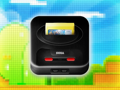 Sega MegaDrive iPhone icon sega mega drive genesis iphone icon ios mario photoshop