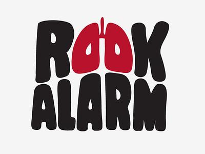 Rookalarm vector design branding logo